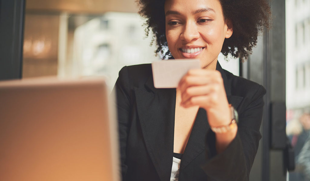 young woman finding ways to improve her credit score